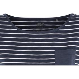 Jack Wolfskin Travel Striped T-Shirt Women midnightblue stripes